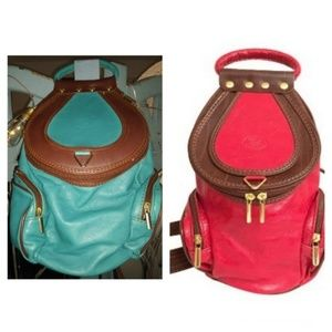VA Italian Made Convertible Turquoise GL Bag